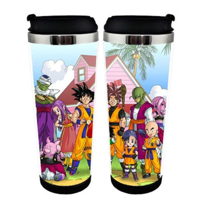 Dragon Ball Goku Double Insulation Resin Plastic Mug Coffee - 13 / Plastic Liner
