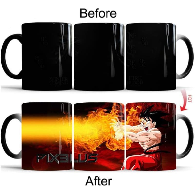Dragon Ball Magic Mug Heat Sensitive Color Changing Coffee