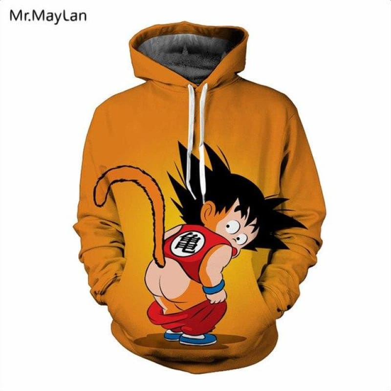 Dragon Ball Z Cute Baby Goku Hoodies Men Women