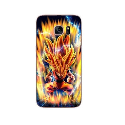 Dragon Ball Z Goku Samsung S6 S7 Edge S8 Pluss9 S9 Plus Note 8 - Army Green / For Samsung S6