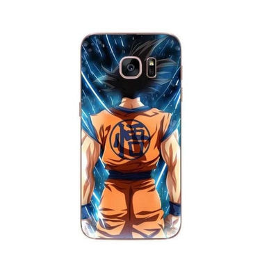 Dragon Ball Z Goku Samsung S6 S7 Edge S8 Pluss9 S9 Plus Note 8 - Brown / For Samsung S6