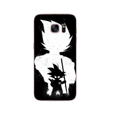 Dragon Ball Z Goku Samsung S6 S7 Edge S8 Pluss9 S9 Plus Note 8 - Gray / For Samsung S6