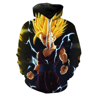 Dragon Ball Z Hoodie Son Gohan Super Saiyans Dbz Merch - Dragon Ball Z Hoodie
