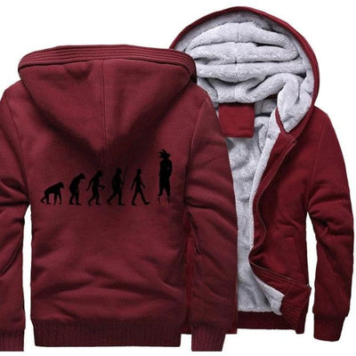 Dragon Ball Z Mens Hooded Jacket - Wine Red 1 / 4Xl