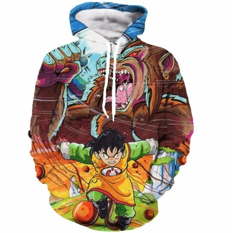 Dragon Ball Z Pocket Hooded Sweatshirts Kid Goku 3D Hoodies Men Women