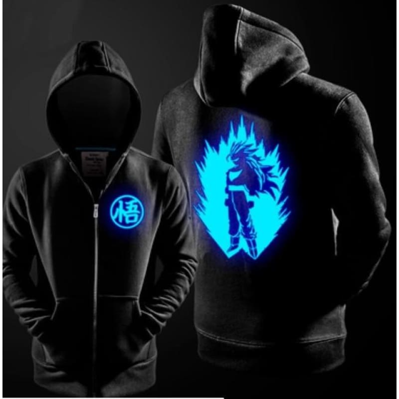 Dragon Ball Z Son Goku Cosplay Costume Luminous Zipper Master School Boys Hoodie Jacket Coat