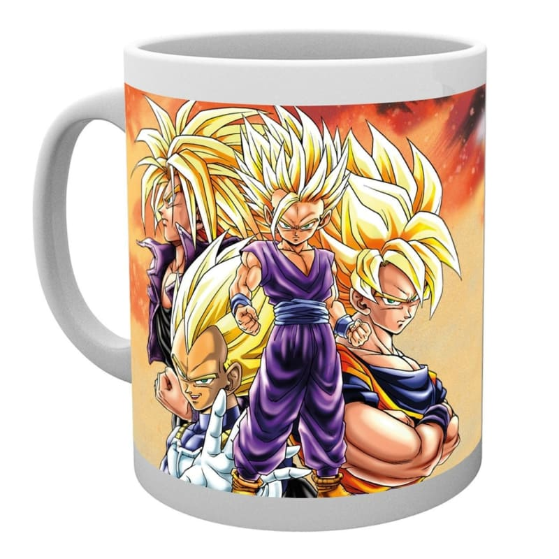 Dragon Ball Z Super Saiyans Anime Cup Tea Coffee Mug