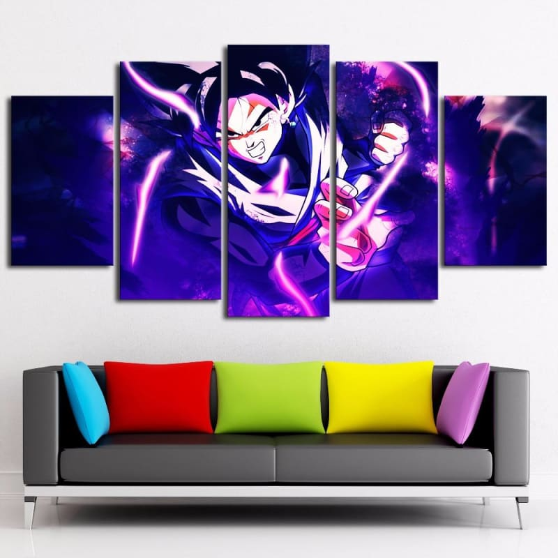 Goku Dragon Ball Z 5Pc Canvas Prints Wall Art