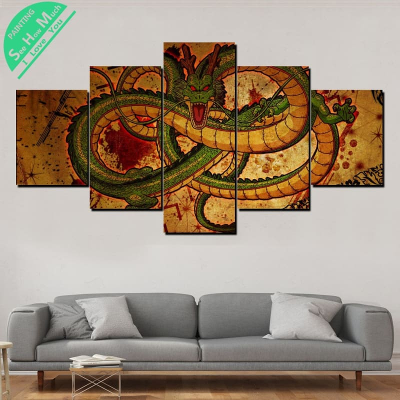 Shenron Dragon Ball 5Pc Canvas Prints Wall Art