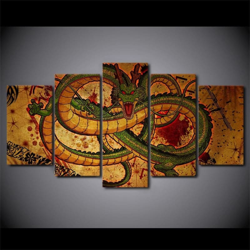 Shenron Dragon Ball Z 5Pc Canvas Prints Wall Art