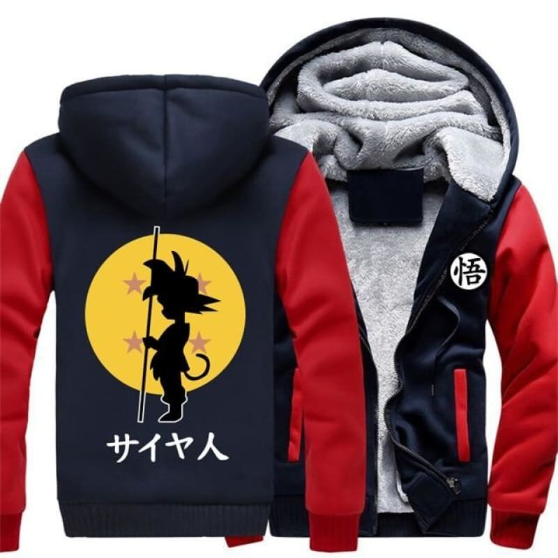 Us Size Men Women New Design Anime Dragon Ball Z Gt Goku Cartoon Jacket Thicken Hoodie Zipper Winter Fleece Unisex Coat