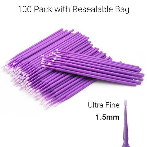 Disposable Micro Brush Eyelash Extension Suppliers NZ - Purple