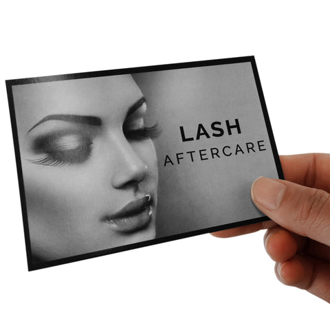 Eyelash Extension Aftercare Instruction Cards for Clients NZ