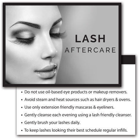 Eyelash Extension Client Aftercare Instruction Cards