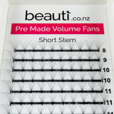 Eyelash Extension Supplies NZ 5D Premade Fan Short Stem - C Curl