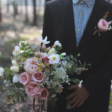 Load image into Gallery viewer, Mauve Boho Silk Wedding Bouquet