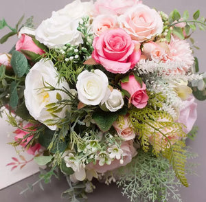 Spring Pink Rustic Wedding Bouquet