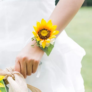 Sunflower Boutonniere and Corsage