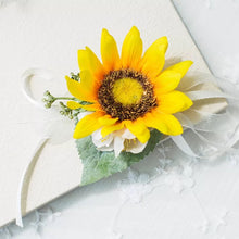 Load image into Gallery viewer, Sunflower Boutonniere and Corsage