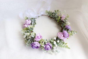 Silk Lavender Flower Crown