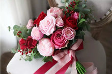 Load image into Gallery viewer, Romantic Burgundy, Red & Pink Wedding Bouquet
