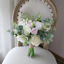 Load image into Gallery viewer, Ivory & Blush Silk Wedding Bouquet