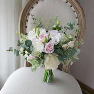 Ivory & Blush Silk Wedding Bouquet