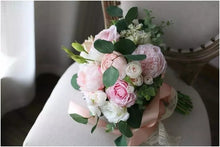 Load image into Gallery viewer, Peach and Blush Wedding Bouquet