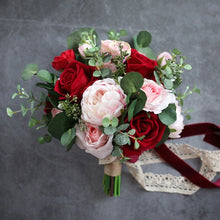 Load image into Gallery viewer, Blush and Burgundy Wedding Flowers