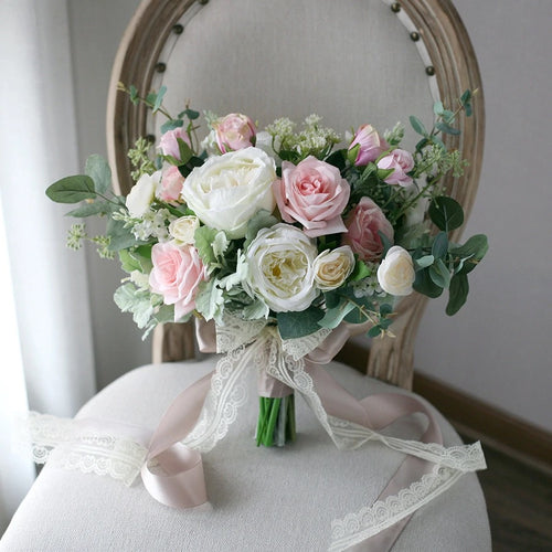 Cream & Blush Wedding Bouquet