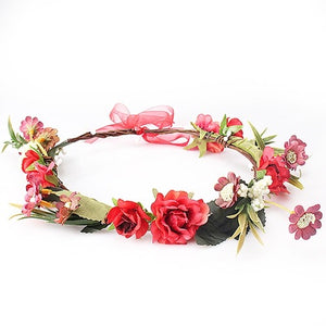 Red Flower Crown