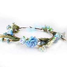 Load image into Gallery viewer, Blue Flower Crown