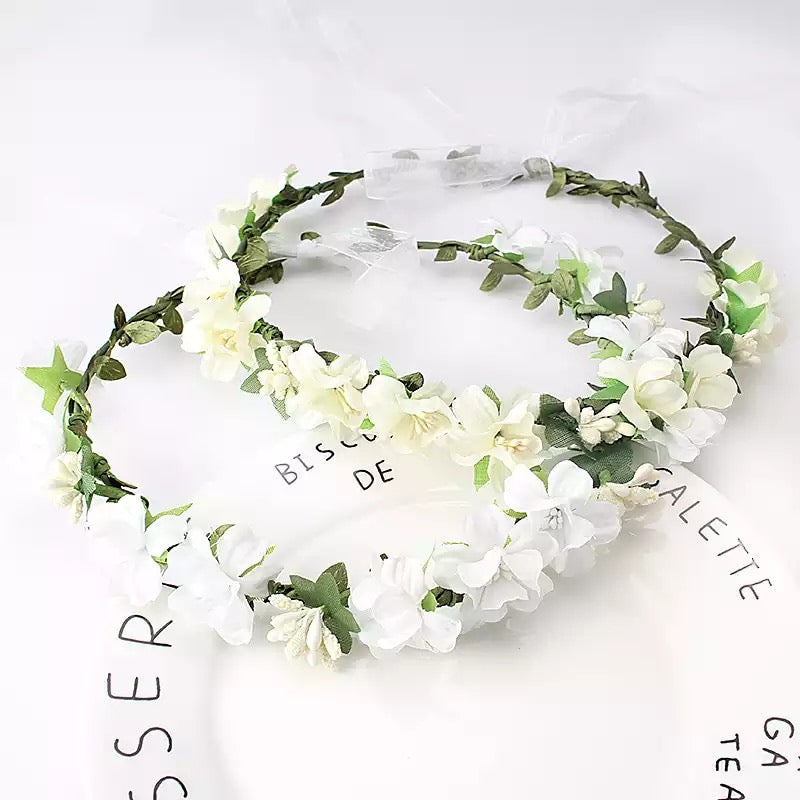 Delicate White Flower Crown