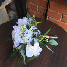 Load image into Gallery viewer, Greenery & White Silk Wedding Flowers