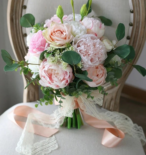 Peach and Blush Wedding Bouquet