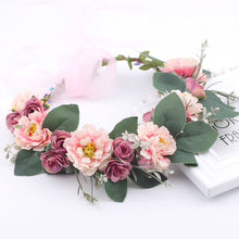 Load image into Gallery viewer, Mauve & Blush Flower Crown