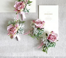 Load image into Gallery viewer, Mauve & Dusty Rose Silk Wedding Bouquet