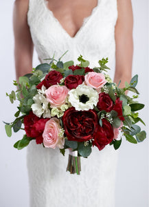Burgundy & Blush with Anemones