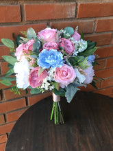 Load image into Gallery viewer, Dusty Blue & Blush Wedding Bouquet
