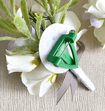 Load image into Gallery viewer, White Boutonniere and Corsage With Greenery