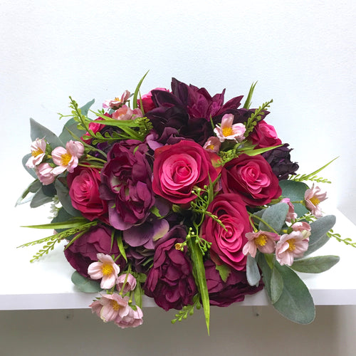 Eggplant Purple Wedding Bouquet