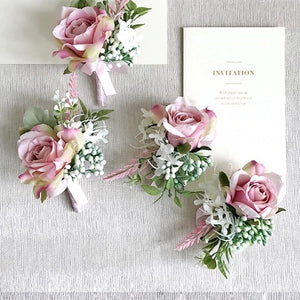 Dusty Rose Corsages & Boutonnieres