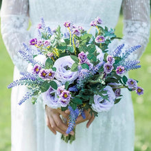 Load image into Gallery viewer, Lavender Wildflower Purple Silk Bouquet