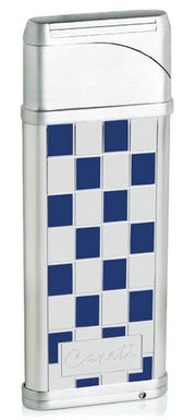 Caseti Alchemy Windproof Flame Coil Lighter - Blue Grid Lacquer - Crown Humidors