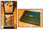 All Leather Csonka Cigar Companion Travel Humidor - Crown Humidors