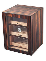Visol Gorman Macassar Ebony Cabinet Humidor - Holds up to 150 Cigars - Crown Humidors