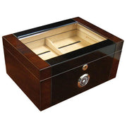 The Berkeley II High Glass Top Humidor by Prestige Import Group - 100 Cigar ct - Crown Humidors