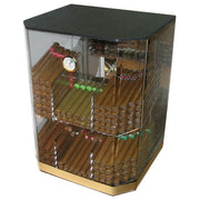 The Franklin Acrylic Display Humidor 6 Bins by Prestige Import Group - 150 Cigar ct - Crown Humidors