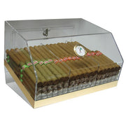 The Laurence Acrylic Display Humidor 3 Bins by Prestige Import Group - 75 Cigar ct - Crown Humidors