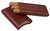 Visol Legend Burgundy Genuine Leather Cigar Case - Holds 3 Cigars - Crown Humidors